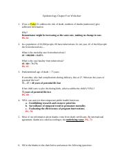 Epidemiology Chapter Four Worksheet Answers.docx