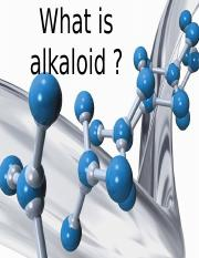 What is alkaloid