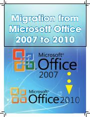 9. Migration from Microsoft Office 2007 to 2010