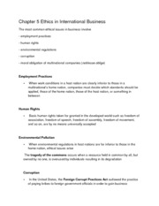 Chapter 5 Ethics in International Business_Class Notes