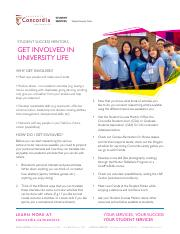 Get involved in university life