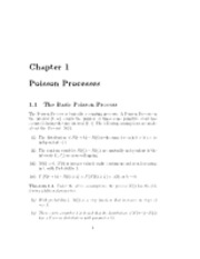 Poisson Processes notes