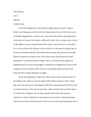 eng 285 ragged dick essay