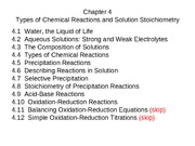 Chapter 4 rxns lecture notes