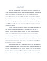 What a Child Needs Essay