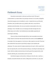 spc 1017 field work essay