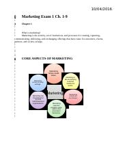 Marketing Exam 1 (ch 1-9)