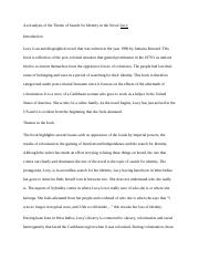 An analysis of the theme of search for identity in the novel Lucy.docx
