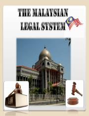 Malaysian legal system-