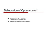 Dehydration of Cyclohexanol
