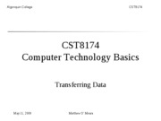 CST8174_Lecture_9_Introduction to transfer modes