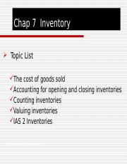 Chap 7 Inventory