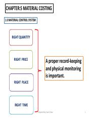 Chapter 5- Material Costing(STNS)