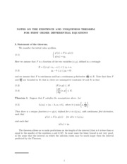Lecture 8  9- Existence and Uniqueness of ODE