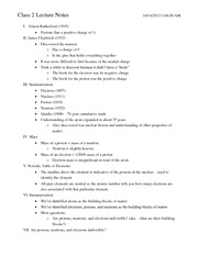Class 2 Notes - History of Chemistry cont. (1900-1970)