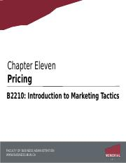 Chapter 11 - Pricing.pptx