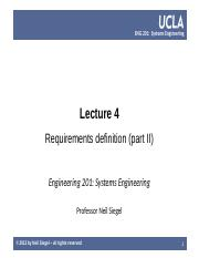 UCLA ENG 201 course  -- lecture 04 -- requirements -- Siegel