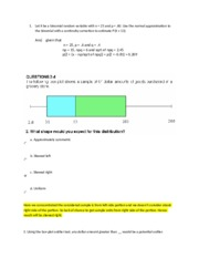 Statistics question and answers 5
