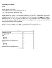 Case Study 4 Goals and Objectives