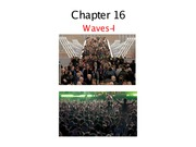 Chapter 16: Waves pt.1 Notes
