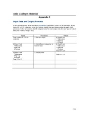 IT 210 Week 1-Appendix C - Input Data and Output Process