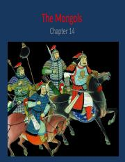 Ch 14 - The Mongols  and Timur