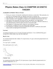 Physics Notes Class 11 CHAPTER 13 KINETIC THEORY .pdf