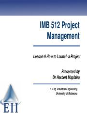 Lesson 9 How to Launch a TPM Project 2014.pdf