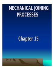 Mechanical Joining process
