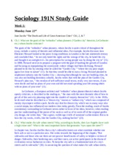 Sociology 191N Study Guide