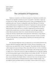 Forgiveness Position Paper - Kerron Johnson.docx