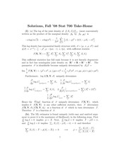 Stat 700 Review Midterm Questions