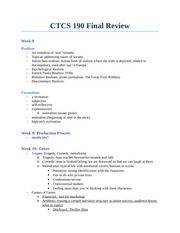 CTCS 190 Final Review