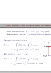 87. Electric Field from Electric Potential in Two Dimensions