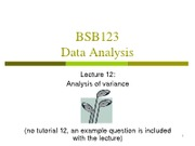 BSB123 Lecture 12 - Analysis of variance