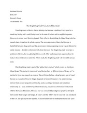 Research Essay on the Illegal Drug Trade