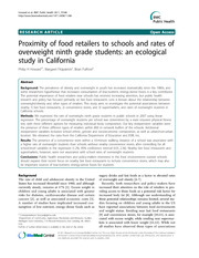 Howard (2011) proximity of food retailers to schools and rates of overweight ninth grade students