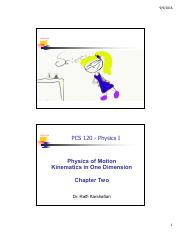 PCS120F16 Chapter Two Kinematics in one dimension Pre Lecture V1 PDF.pdf