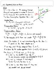 12.5 Equations of Lines and Planes