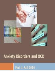 13.  Anxiety Disorders, Part 4 - for students