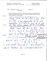 Calculus 1501A Quiz 3