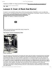 Lesson 3_ Coal A Rock that Burns!