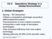 Ch 2 Operations Strategy