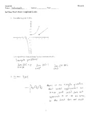 In-Class Worksheet Graphical Limits Solutions