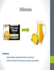 8.  Dilutions & Mixing Solutions
