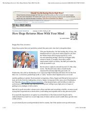 WSJ The Intelligent Investor How Huge Returns Mess With Your Mind 1-13