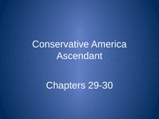 CH 29-30 - Conservative Backlash