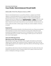EntertainmentBrandAudit