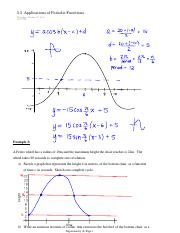 5.5  Applications of Periodic Functions