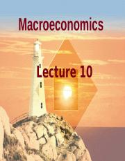 Lecture 10 Open Economy FMT14 SP16